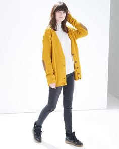 Mustard Cable Knitted Cardigan - Atterley Road