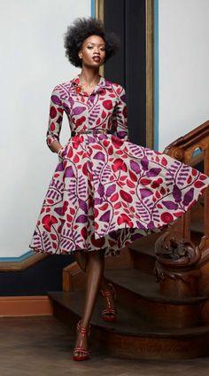 Modele robe africaine robe en pagne tendance robe trapeze