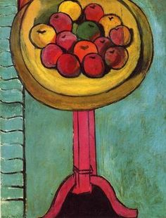 Apples on a Table, Green Background