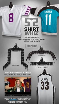 Shirtwhiz: The Jersey And Shirt Wall Display Unit