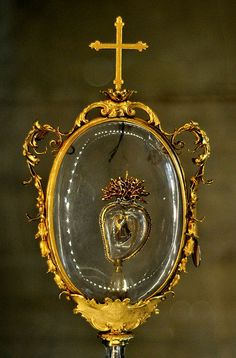 Relic of St Francis, Late 17th century, in the Crypt of the Medici Chapels and Church of San Lorenzo, Florence, Italy.
