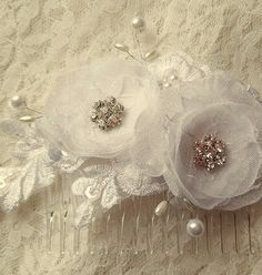 Check out this item in my Etsy shop https://www.etsy.com/listing/261938366/flower-hair-clipbridal-hair-comb-floral