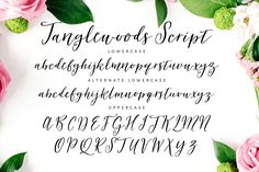 Tanglewoods Script  by Nicky Laatz on @creativemarket