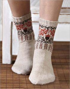 Oak + Acorn Socks - Interweave