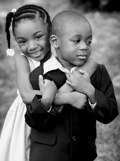 I hope my kids are loving Beautiful Children, Beautiful Babies, Black People Weddings, Brother And Sister Love, Natural Hairstyles For Kids, Brown Babies, Black Kids, Black Women, Wedding With Kids