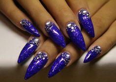 Beautiful color stiletto nail shape