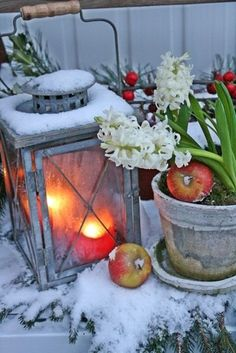 Decoratie buiten winter