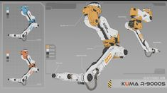 ArtStation - Robot arm R-9000S, XR Zhao Industrial Robotic Arm, Industrial Robots, Robot Design, Game Design, Robot Tattoo, Robot Factory, Hard Surface Modeling, Bicycle Safety, Robot Concept Art