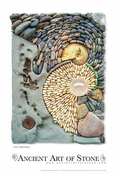 Mosaic Stepping Stones, Pebble Mosaic, Mosaic Diy, Stone Mosaic, Pebble Art, Gold Leaf Art, Boat Art, Mosaic Projects, Seashell Crafts