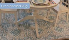You won't want to sweep this DIY under the carpet. Transform a beige, bland rug into a work of art with paint and a stencil.