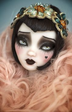 45 Trendy Ideas for eye creepy art awesome Custom Monster High Dolls, Monster Dolls, Custom Dolls, Monster High Repaint, Doll Face Paint, Doll Painting, Barbie, Bjd, Gothic Dolls