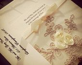 French Lace Wedding Invitation Suite