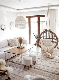 Today, we're showing you 8 Scandinavian living rooms we simply adore, and how to get the same look! Living Room Decor Cozy, Simple Living Room, Boho Living Room, Bohemian Living, Living Room Interior, Room Decor Bedroom, Modern Living, Nordic Living Room, Bohemian Decor