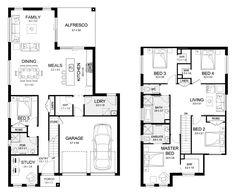 Madison 29 - Double Level - Floorplan by Kurmond Homes - New Home Builders Sydney NSW