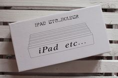 iPad Wooden Holder - Raining Cake
