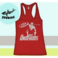 Underoos Spiderman Tank Top Marvel Captain America Tank Top Womens... ($16) ❤ liked on Polyvore featuring black, tanks, tops and women's clothing
