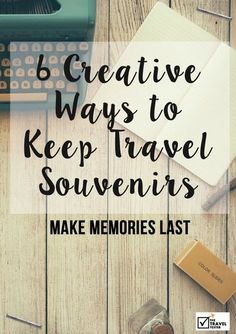 to Find Unique Souvenirs (You Won't Get Bored With) Most souvenirs usually end up gaining dust in a forgotten corner of the house. Time to change that! >> Making Memories Last: 8 Creative Ways to Keep Travel Souvenirs Travel Souvenirs, Travel Maps, New Travel, Travel Journals, Art Journals, Travel Set, Future Travel, Africa Travel, Souvenir Display