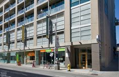 District Lofts-388 Richmond St W #717  | 800+/- sf Demand 2 level, 2 bedroom thru-suite with dual North & South exposures & private balcony! Features floor to ceiling windows, upgraded wood floors on both levels + stairs, granite counters with breakfast bar and custom built-in master bedroom closet! Also includes 1 owned pkg. | More info here: torontolofts.ca/district-lofts-lofts-for-rent/388-richmond-st-w-717-1 2 Bedroom For Rent, Toronto Lofts, Lofts For Rent, Master Bedroom Closet, North South, Floor To Ceiling Windows, Granite Counters, Balcony, Stairs