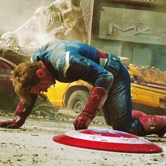 He has no suit of armor, he has no god-like powers, he is not a genius, and yet he never gives up and never runs from a fight. Hero <3 He's just Steve Rogers :) Steve Rogers is the definition of a hero.