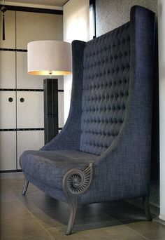 Denim chambray settee