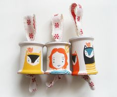 Amy Blackwell - gorgeous handpainted spools...