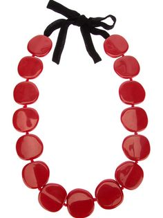 Shop designer necklaces for women at Farfetch for of designs from all your favorite brands, including Alexander McQueen, Gucci and more. Bold Jewelry, Jewlery, Red Necklace, Necklace Designs, Resin, Bracelets, Necklaces, Curvy, Board