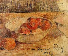 Fruit in a bowl - Paul Gauguin