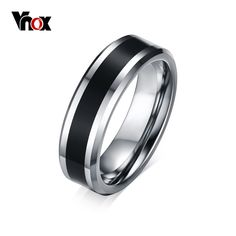 Men's Tungsten Wedding Bands Ring Thin Black Line Engagement Ring USA Male Jewelry Wide Engagement Jewelry, Vintage Engagement Rings, Vintage Rings, Wedding Jewelry, Jewelry Rings, Male Jewelry, Jewelry Accessories, Men's Fashion Jewelry, Tungsten Carbide Wedding Bands