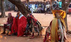 Voodoo dancers at an Egungun ceremony (Shutterstock)