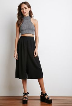 High-Waisted Culottes | Forever 21 | #f21summercool