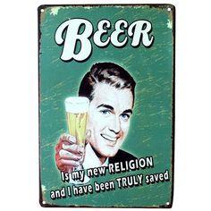Vintage Metal Signs 'Beverage Theme Plaques' Pub Wall Decor