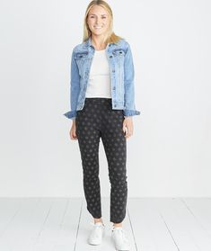 Allison Pant in India Ink Print