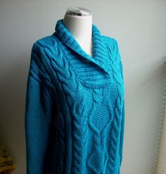 turquoise mercerized cotton sweater gift for by TheAnatolianstyle, $65.00