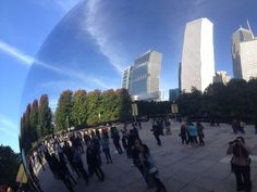 The Bean and its reflection in Chicago's Millennium Park. Photo by Jessica Lipowski