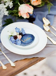 Wedding Decorations Pantone Color of the Year For Classic Blue Wedding ❤ classic blue wedding table Blue Table Settings, Wedding Table Settings, Wedding Centerpieces, Wedding Decorations, Table Decorations, Wedding Ideas, Winter Decorations, Wedding Reception, Wedding Details