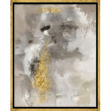 Touch of Gold Framed Canvas Print