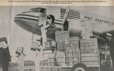 1930s cargo being loaded aboard a PanAm DC 3.