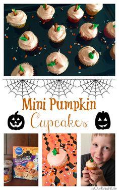 Halloween Mini Pumpkin Cupcakes