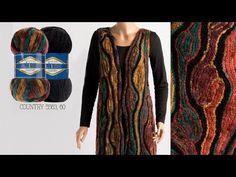 Alize Country ve Özel Bir Teknik ile Yelek Yapımı-Vest with a Special Technique Using Country - Herzlich willkommen Pooling Crochet, Crochet Chain, Freeform Crochet, Filet Crochet, Knit Crochet, Crochet Jacket, Crochet Cardigan, Crochet Scarves, Crochet Clothes