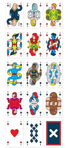 Bold, Vibrant Deck Of Playing Cards Featuring Characters Of 'Uncanny X-Men' - DesignTAXI.com