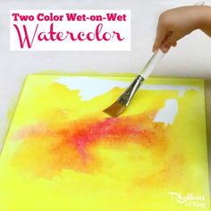 Two Color Wet-on-Wet Watercolor