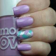 Fishtail Braid Nail Art Manicure Tutorial Click link below for tutorial via Lucy's Stash.  Source: lucysstash.com