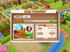 Farm Story 2 | Player Profile - UI HUD User Interface Game Art GUI iOS Apps Games