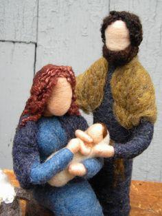 Nadel Gefilzte Nativity Set Maria Josef Jesus von TheMermaidsMuse