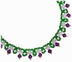 Sandra D Halpenny - Free Bead Patterns and Ideas : Simple Sparkle Necklace Pattern - Free pattern