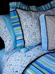 Kid's Classic Blue & Green Bedding