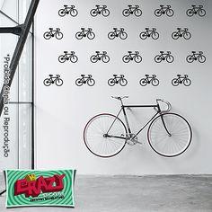 #adesivo #decoração #parede #bicicleta