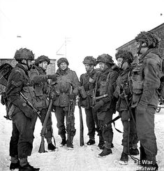 Paratroopers of the 1st Canadian Parachute Battalion preparing for a patrol. January 15, 1945, Bande, Belgium.
