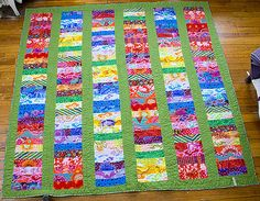 better picture to see the whole quilt. 64x67, Kona Cotton and Kaffe Fassett Jelly Roll