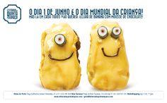 Dia Mundial da Criança - Éclair de banana e chocolate / banana and chocolate Éclair